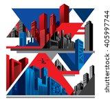 Modern City Collage  Superhero...