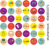 children icons set isolated on... | Shutterstock .eps vector #406001071