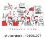 finance team on white...