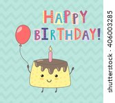 happy birthday greeting card... | Shutterstock .eps vector #406003285