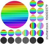 set of rainbow circle logo icon ...