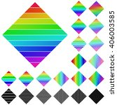 set of rainbow diagonal square...