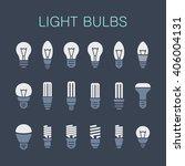 light bulbs. bulb icon set | Shutterstock .eps vector #406004131