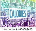 calories word cloud background  ... | Shutterstock .eps vector #406009495
