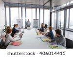 business man talking about... | Shutterstock . vector #406014415