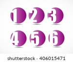 collection of empty rounded... | Shutterstock . vector #406015471