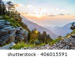 Stock photo beautiful sunrise in the mountains olympus national park greece 406015591