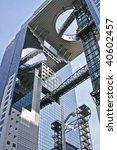 tall office building in osaka... | Shutterstock . vector #40602457
