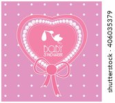 isolated heart shaped sticker... | Shutterstock .eps vector #406035379