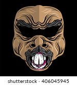 traditional bali mask   ugly... | Shutterstock .eps vector #406045945