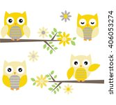 Cut Owl With Branches.yellow...
