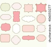 pink label frames collections   Shutterstock .eps vector #406053277