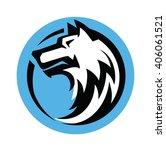 wolf black head vector on white ...   Shutterstock .eps vector #406061521