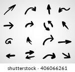 hand drawn arrows  vector set | Shutterstock .eps vector #406066261