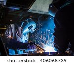 the movement of workers with... | Shutterstock . vector #406068739