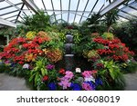 flowers and waterfall inside... | Shutterstock . vector #40608019