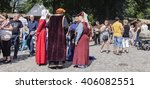Small photo of TURKU, ABO FINLAND ON JUNE 30. View of an outdoor performance at the Medieval Market Festival on June 30, 2013 in Turku, Abo Finland. Unidentified actors and audience.
