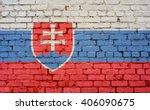 Flag Of Slovakia Painted On...