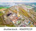 modern combined heat and power... | Shutterstock . vector #406099219