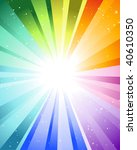 festive rays with many stars | Shutterstock . vector #40610350