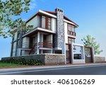3d rendering and design  ... | Shutterstock . vector #406106269