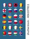 soccer balls in flag icon of...   Shutterstock .eps vector #406107811