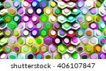 3d Abstract Background Hexagon  ...