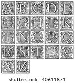 Old Decorative Alphabet From...