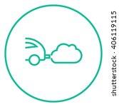 car spewing polluting exhaust... | Shutterstock .eps vector #406119115
