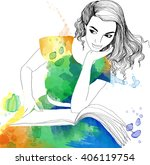 Watercolor Illustration Of...