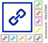 set of color square framed link ...