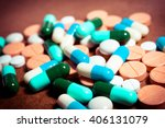 colorful medication and pills.