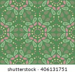 floral seamless decorative... | Shutterstock .eps vector #406131751
