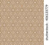 seamless isometric brown cube...   Shutterstock .eps vector #406133779