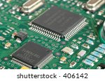 printed circuit board with chips | Shutterstock . vector #406142