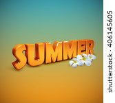 summer. vector illustration of... | Shutterstock .eps vector #406145605