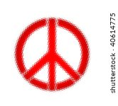 peace  halftone vector | Shutterstock .eps vector #40614775