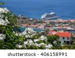 white caribbean flowers in st... | Shutterstock . vector #406158991