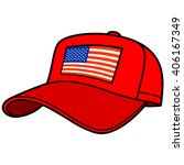baseball cap with us flag | Shutterstock .eps vector #406167349
