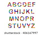 Cute Candy Colored 3d Alphabet