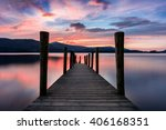 vibrant sunset with dramatic... | Shutterstock . vector #406168351