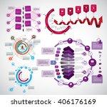 vector of infographic | Shutterstock .eps vector #406176169