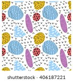 fun seamless pattern. bright... | Shutterstock .eps vector #406187221
