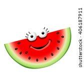 fun cute cartoon watermelon...   Shutterstock .eps vector #406187911