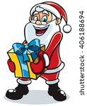 santa gift 2  happy santa claus ... | Shutterstock .eps vector #406188694