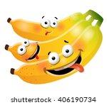 fun cute bunch banana cartoon... | Shutterstock .eps vector #406190734