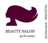 logo for beauty salon with... | Shutterstock .eps vector #406193761