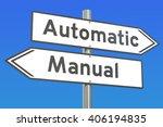 automatic vs manual concept  3d ... | Shutterstock . vector #406194835