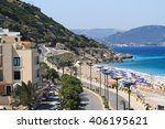 greece  rhodes  6 july  2011 ... | Shutterstock . vector #406195621
