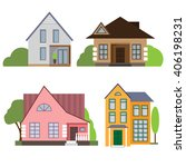 four variants of building... | Shutterstock .eps vector #406198231
